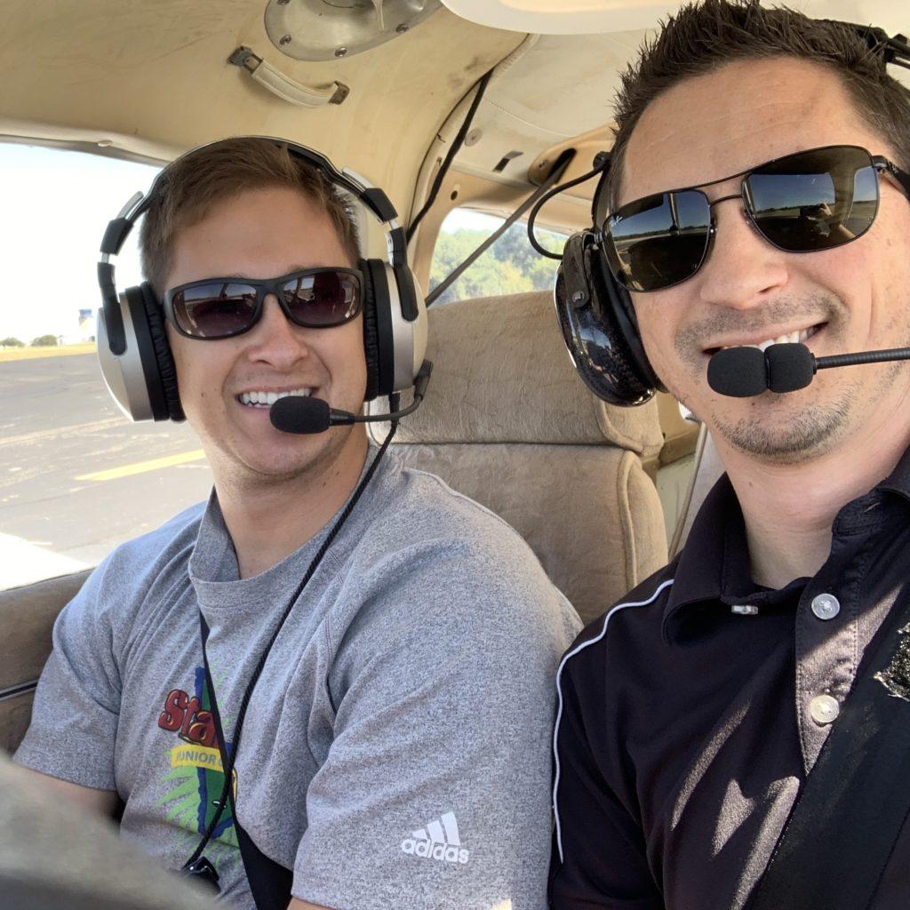 Daniel Donovan at Flight School in a Piper Archer